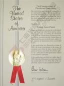 英文专利证书
